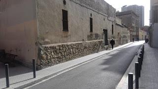 Restos de tapia del siglo XIX (Riera de la Creu)