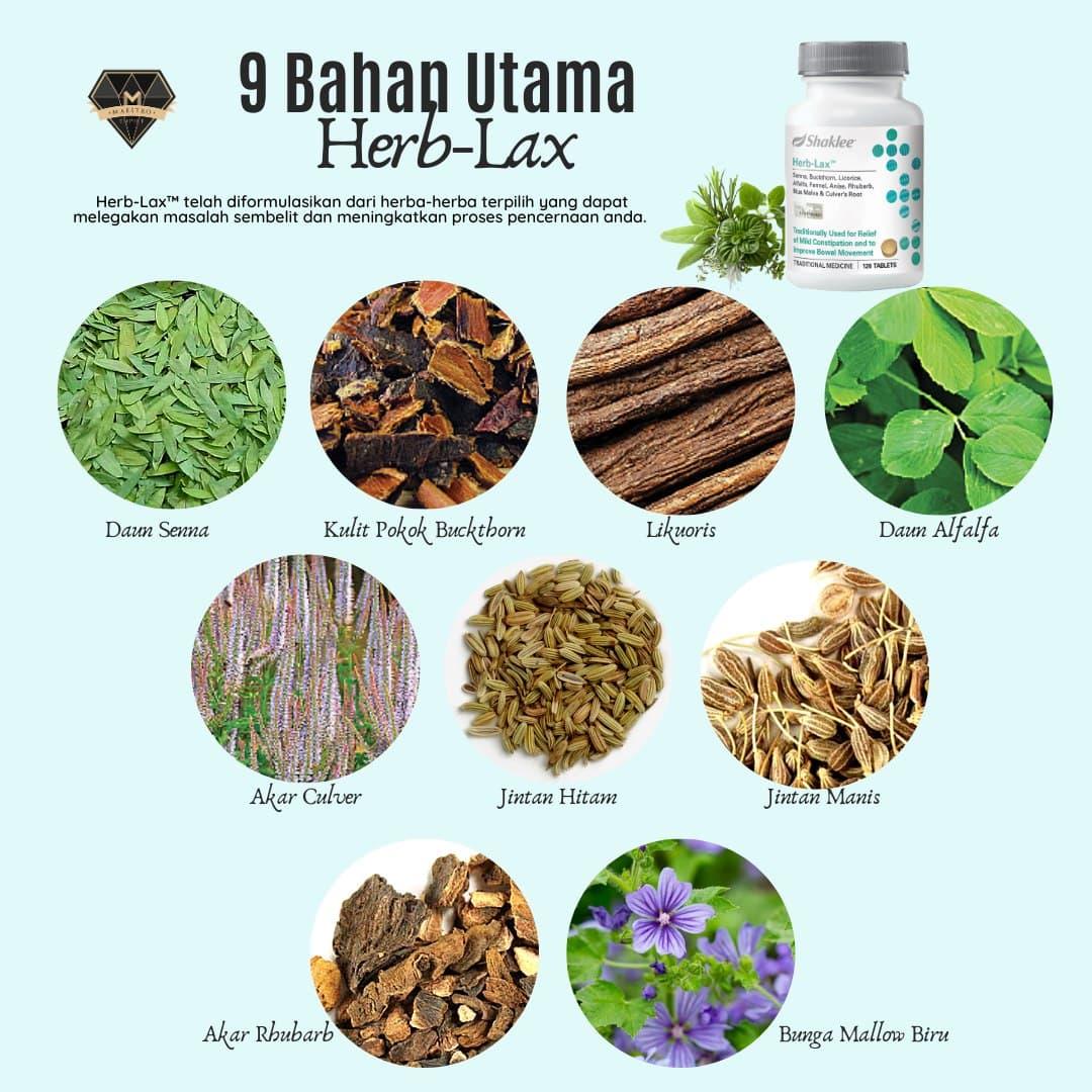 Bahan utama herbalax shaklee