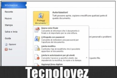 Come proteggere un documento word con password
