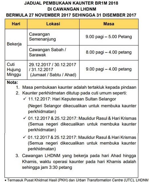 Borang permohonan BR1M bujang online