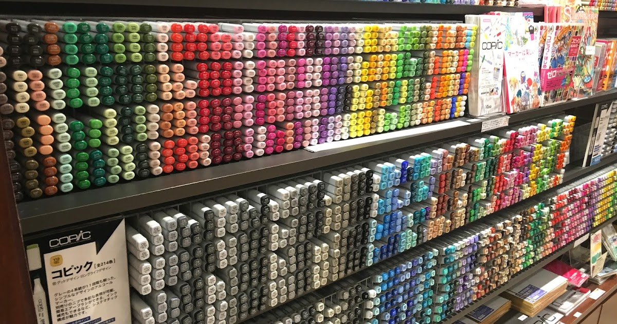 EVACOMICS BLOG: Where to buy COPIC markers in Tokyo