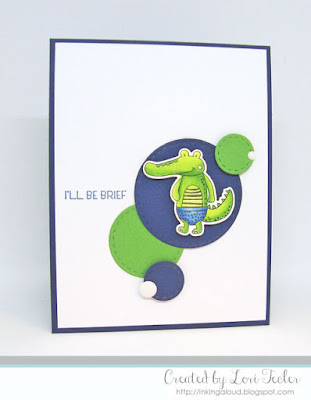I'll Be Brief card-designed by Lori Tecler/Inking Aloud-stamps and dies from Lil' Inker Designs