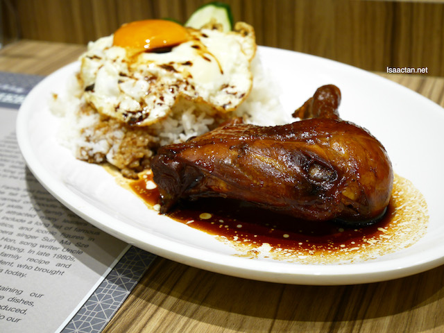 Swiss Chicken Leg Rice with Sunny Side-up Egg