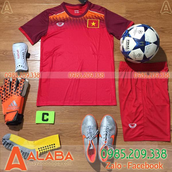 Áo bóng đá Việt Nam màu đỏ đẹp