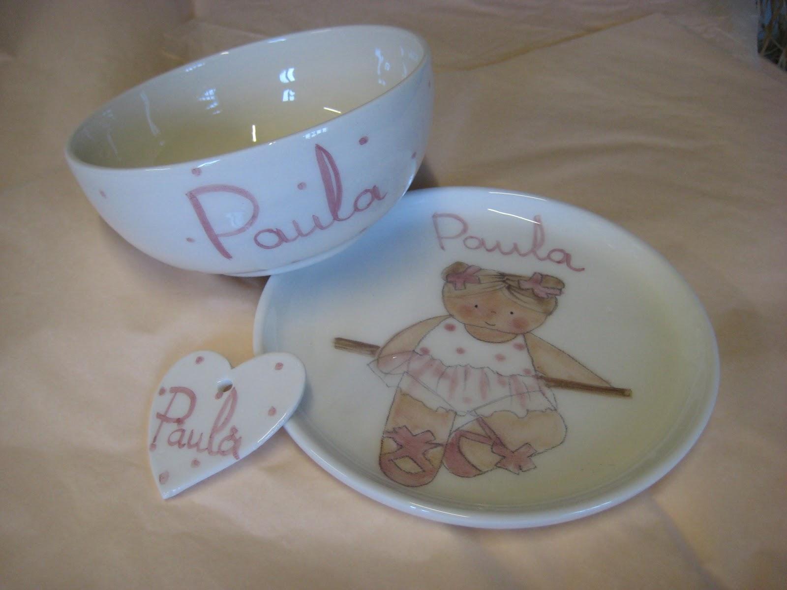 Vajillas infantiles personalizadas decoraci n infantil for Vajilla bebe personalizada