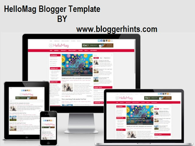HelloMag Free Blogger Theme