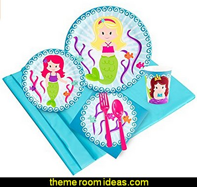 Mermaid Party Supplies  mermaid party decorations - mermaid party ideas - mermaid themed birthday party - ocean theme party decorations - under the sea party - little mermaid birthday party ideas - beach party - water theme parties - mermaid table decor - party props  under the sea birthday party - under the sea theme party table