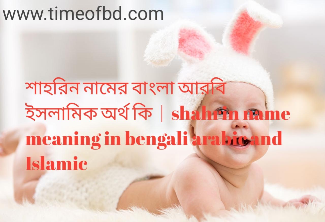 শাহরিন নামের অর্থ কী, শাহরিন নামের বাংলা অর্থ কি, শাহরিন নামের ইসলামিক অর্থ কি, shahrin name meaning in bengali
