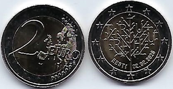Estonia 2 euro 2020 - Centenary of the Treaty of Tartu