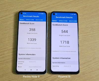 Realme 6i vs Redmi Note 9