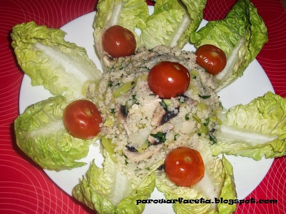 kuskus i warzywa w parowarze