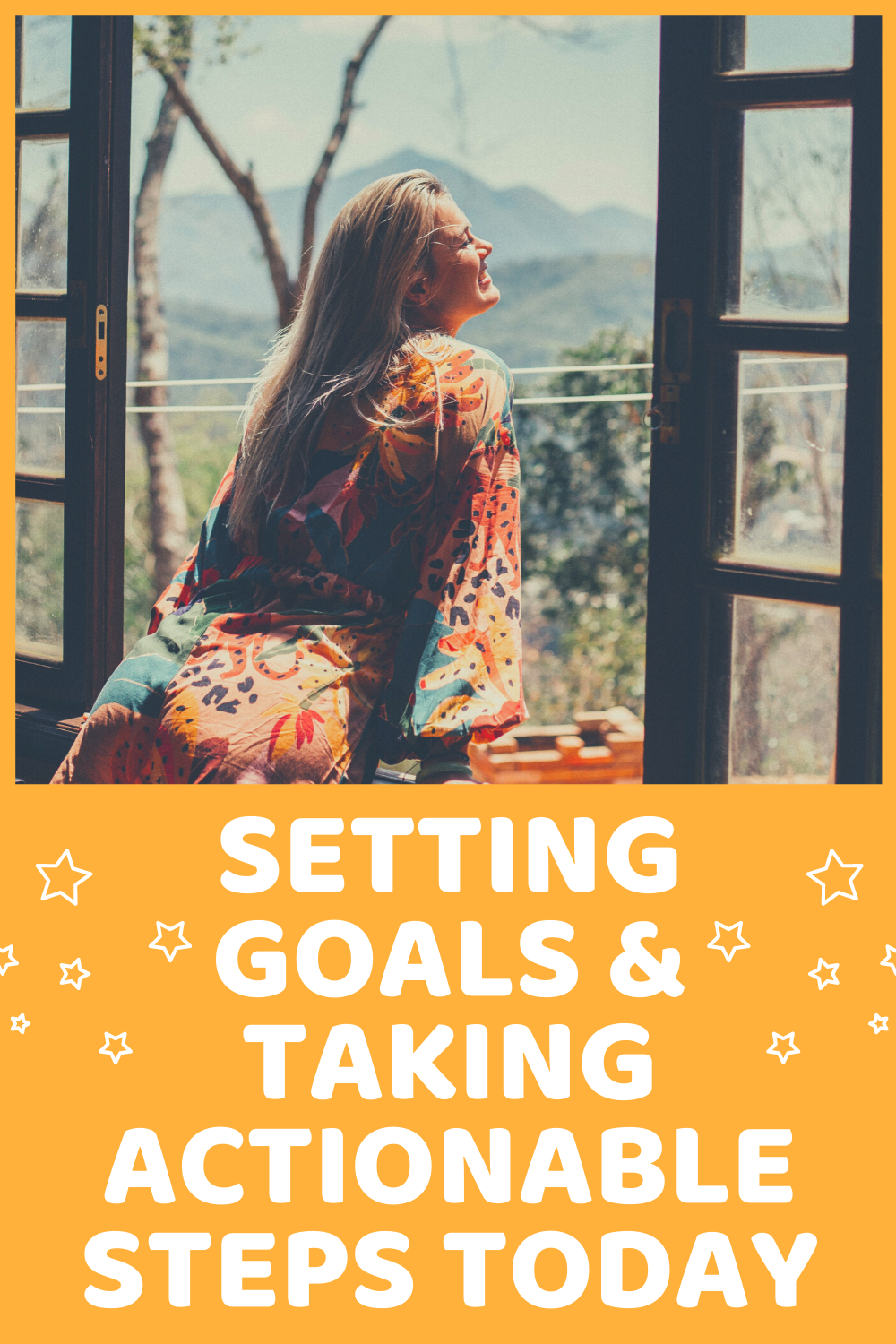 Setting goals and taking actionable steps today!