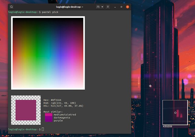 Pastel command-line tool to generate, analyze, convert and manipulate colors