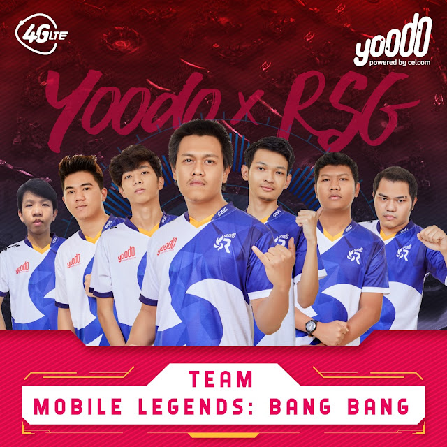 Yoodo Umum Kerjasama Baru Dengan Moonton & RSG MY Serta Pemain Baru Untuk Yoodo Gank