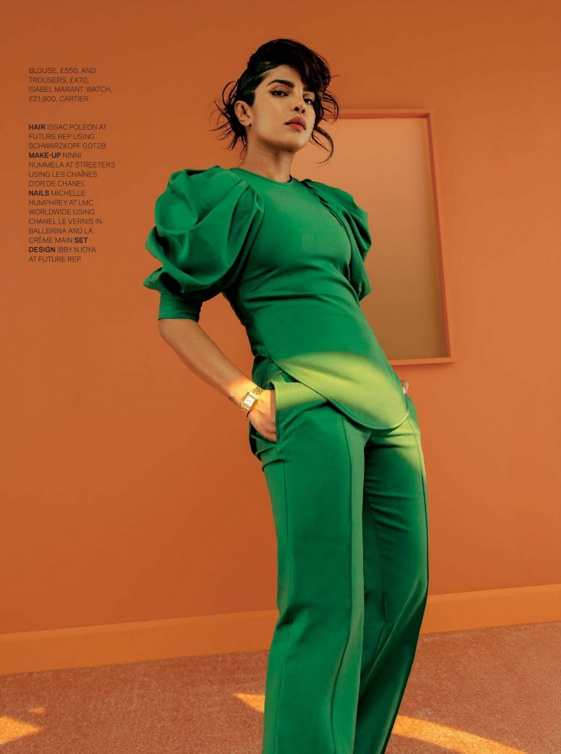 Priyanka Chopra Featured in The Sunday Times Style Magazine - January 2021