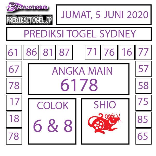 Kode Syair Sydney Jumat 05 Juni 2020 - Babatoto