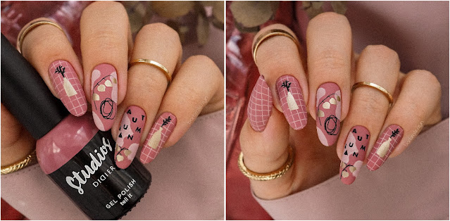 autumn stamping nails