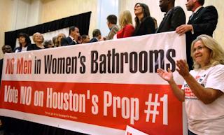 No Men in Women's Bathroom