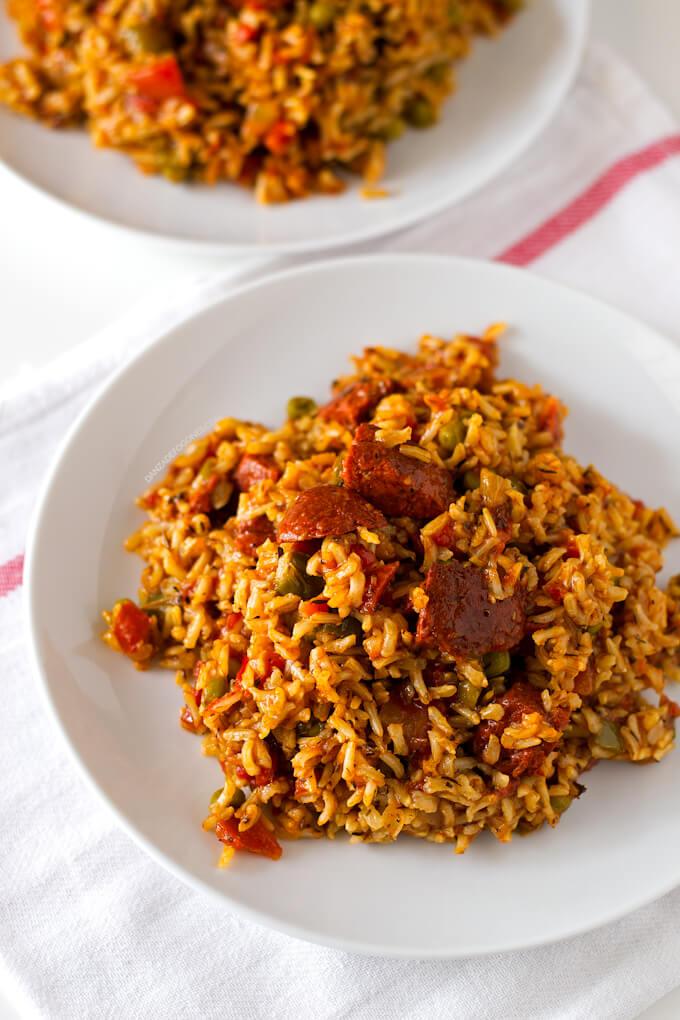 Rice with Vegan Chorizo