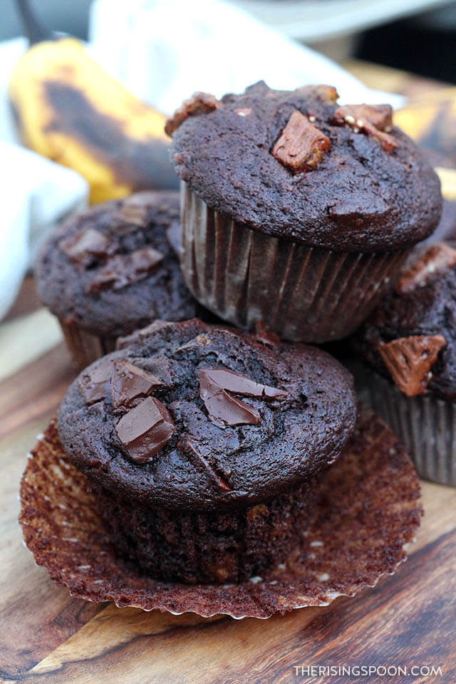 Double Chocolate Banana Muffins (Easy, Moist & Comforting)