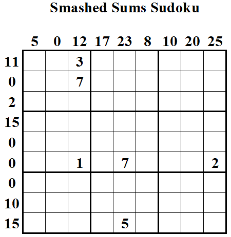 Smashed Sums Sudoku (Daily Sudoku League #11)