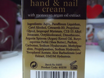Argan Oil  krém na ruky a nechty s arganovým olejom zloženie