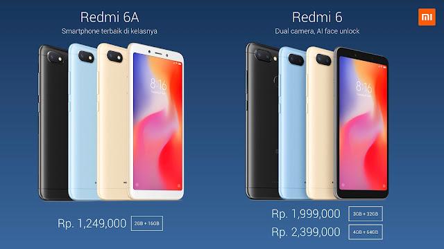 Redmi 6 dan Redmi 6A
