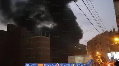 حريق ضخم بمصنع كاوتشوك, شبين الكوم, المنوفية,