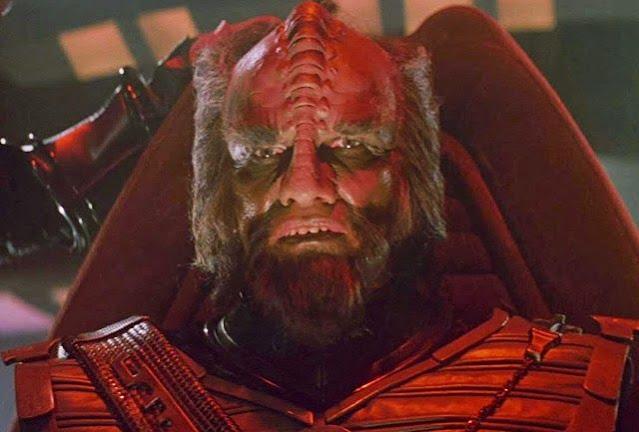 Mark Lenard as a Klingon Captain