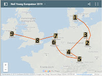 Neil Young Tourkarte Europatour 2019