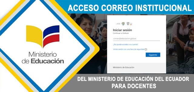 Correo Institucional - Ministerio de Educación Ecuador Outlook mail.educacion.gob.ec