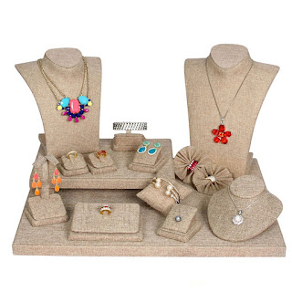 Shop Nile Corp Wholesale Jewelry Display Set Burlap