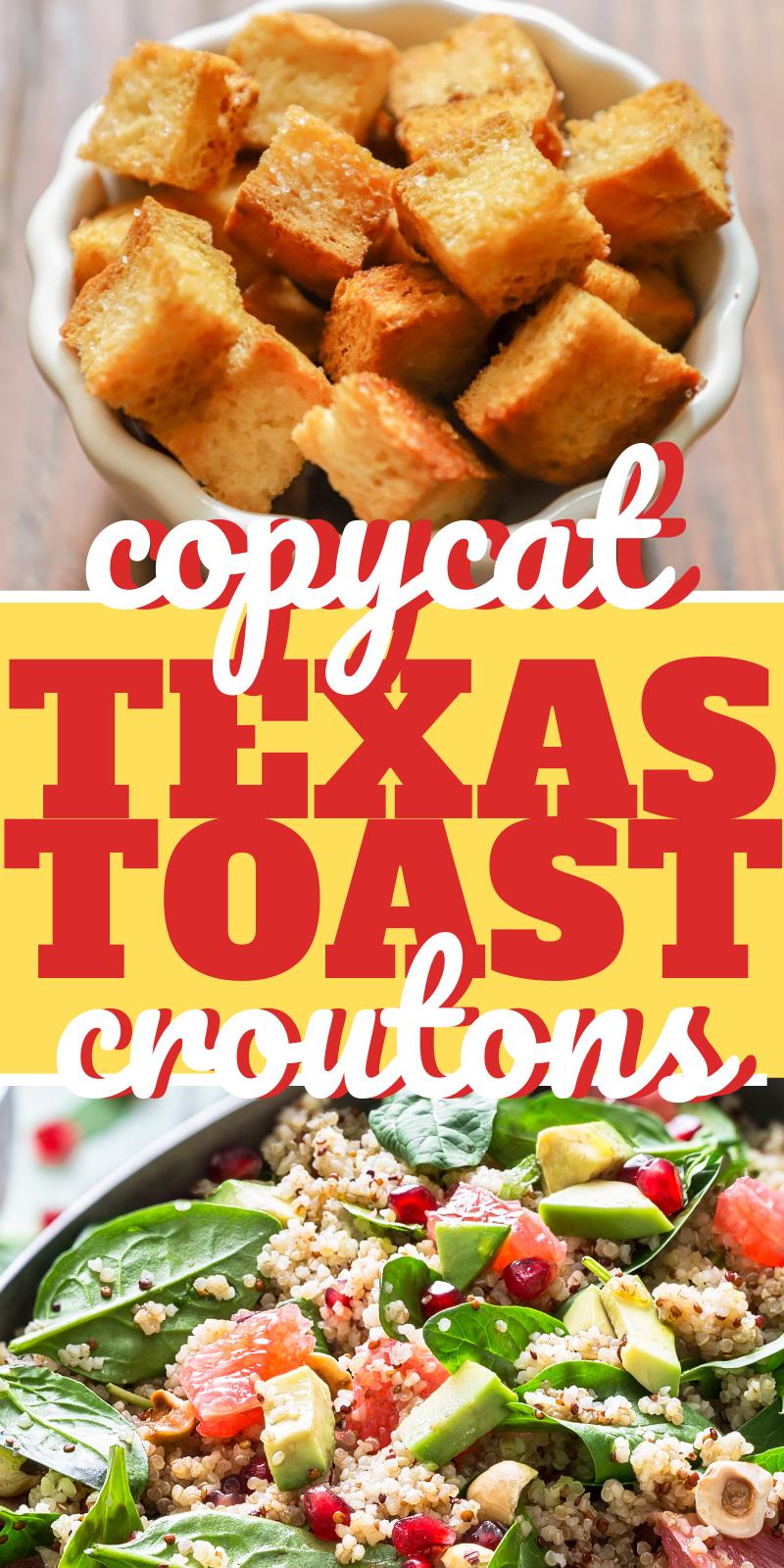 Copycat Homemade Texas Toast Croutons
