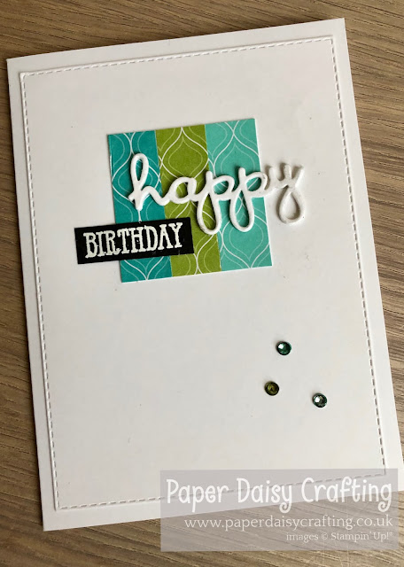 Well written birthday card paper daisy crafting stampin up