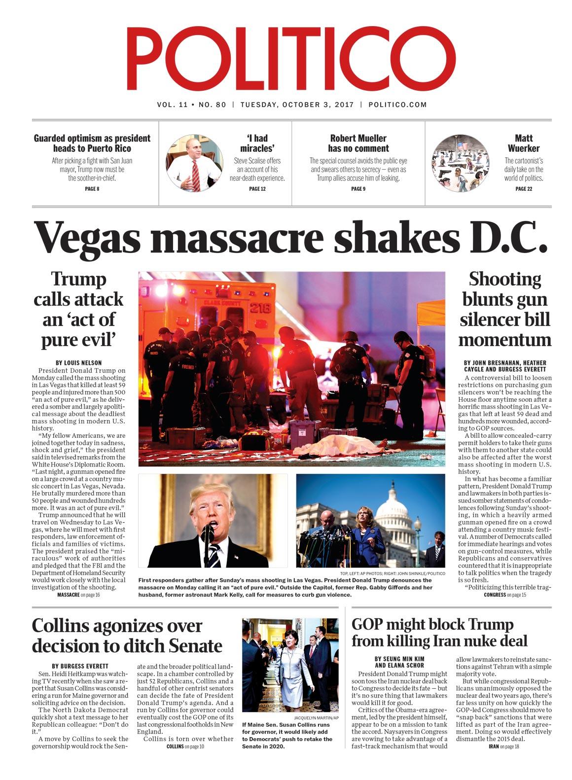 Vegas massacre shakes D.C.