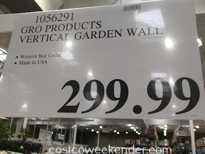 Deal for the GRO Products VEG-Wall Vertical Gardening System at Costco