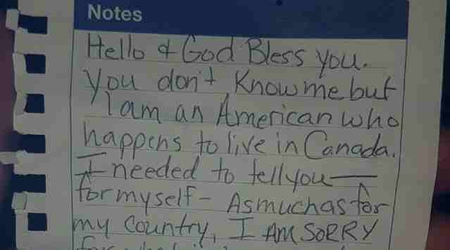 Someone Left This Letter to Canadian Muslims in the Mosque Parking Lot