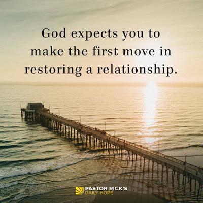 Restoring Relationships: Take the Initiative by Rick Warren