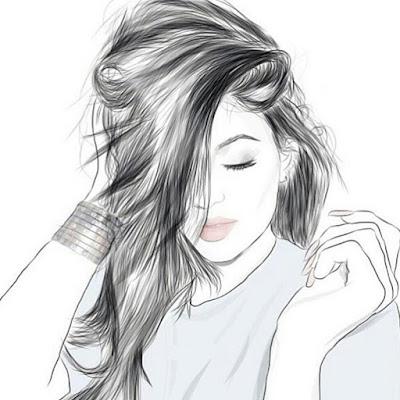 اجمل رسم بنت بالصور بالقلم الرصاص