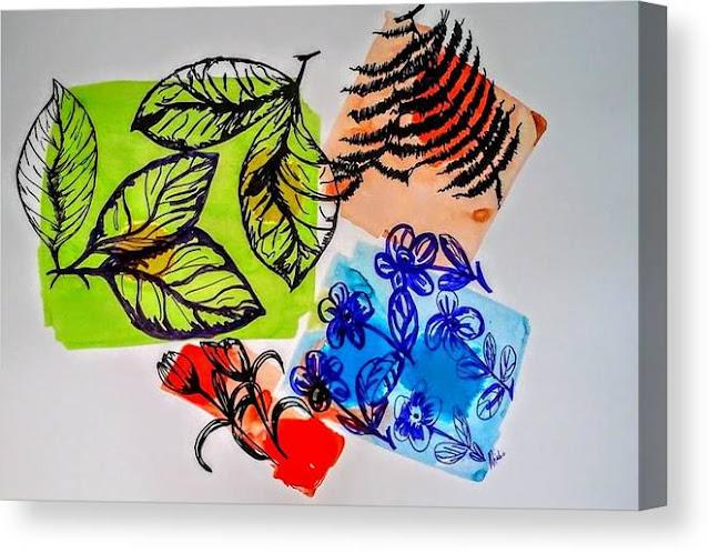 The Garden Canvas Print, Miabo Enyadike