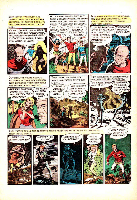 Weird Science-Fantasy v1 #27 ec comic book page art by Wally Wood