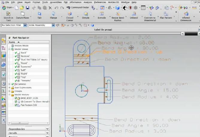 Unigraphics Nx Sheet Metal tutorial Pdf split and merge Online
