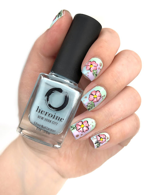 Tropical Floral Nail Art 25 Sweetpeas