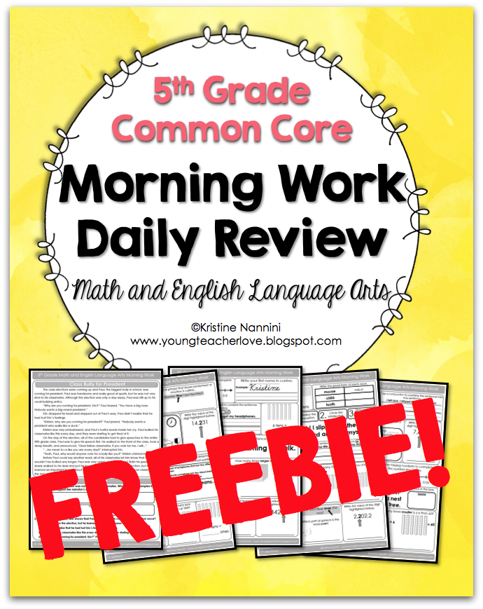 Morning Work Daily Review (5th Grade Common Core Math and