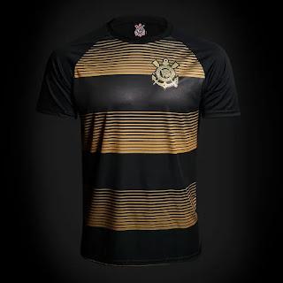 Camisa Corinthians Silverstone Edição Limitada Masculina - Preto e Dourado