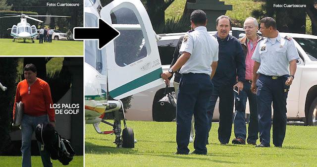 Sí tomé el helicóptero, sí jugué con Peña, pero esos palos de golf no eran míos, dice Emilio Gamboa