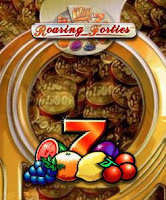 Coins and fruits from Roaring Forties slot game