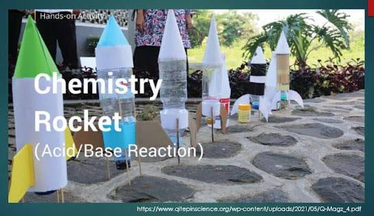 Membuat Roket Botol dari Reaksi Asam Basa, Sobat guru tulisan kali ini masih berhubungan dengan Pendalaman Kimia tentang asam dan basa  dengan model PjBL dengan pendekatan  STEM/STEAM