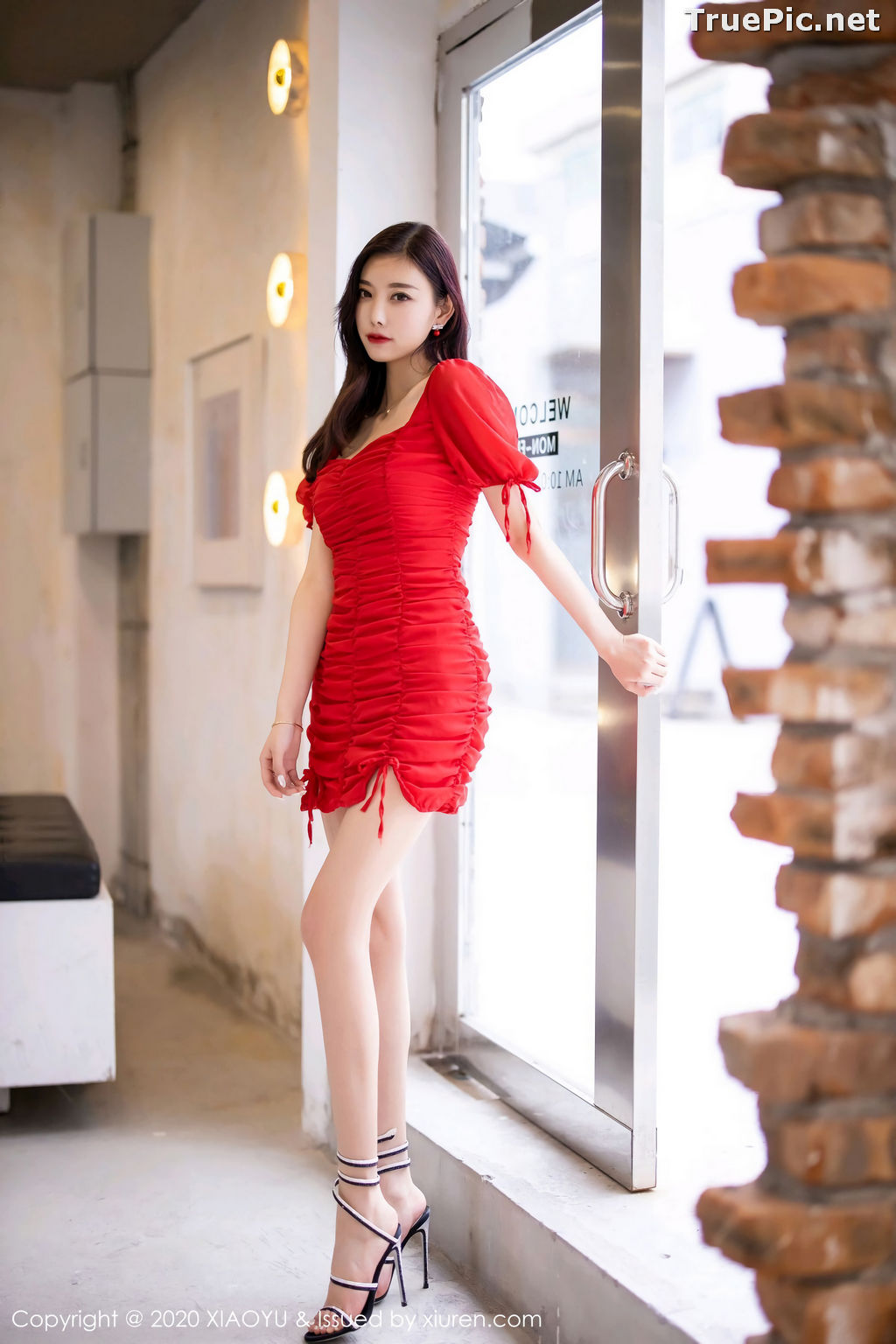Image XiaoYu Vol.326 - Chinese Model - Yang Chen Chen (杨晨晨sugar) Sexy With Red Bodycon Dress - TruePic.net - Picture-3