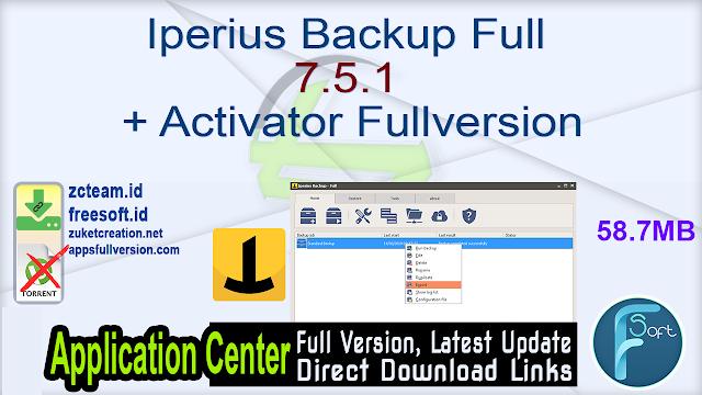 Iperius Backup Full 7.5.1 + Activator Fullversion